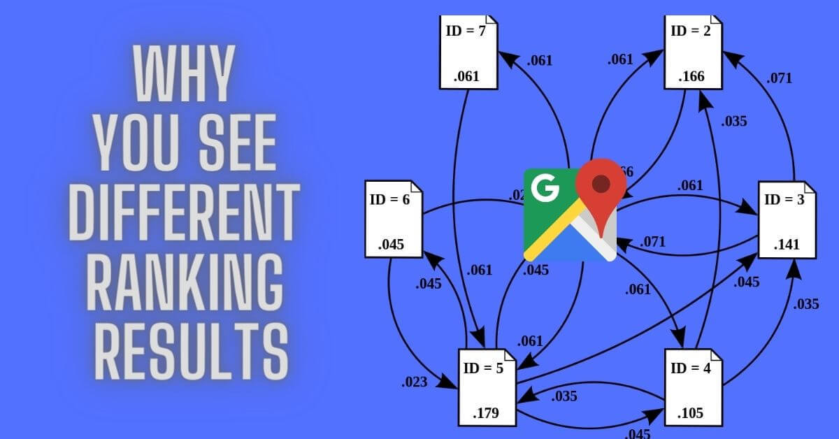 why you see different ranking results